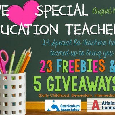 We love SPED Teachers!